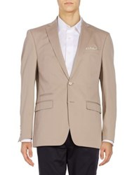 Tallia Orange Button Front Sportcoat Khaki