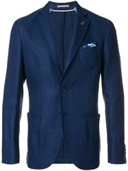 Paoloni Classic Fitted Blazer Blue