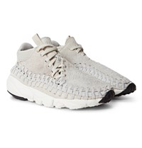 Nikelab Air Footscape Woven Chukka Faux Suede And Neoprene Sneakers Light Gray