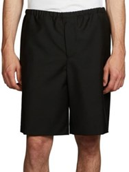 Acne Studios Ari Wool And Mohair Shorts Black