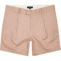 River Island Mens Pink Pleated Shorts