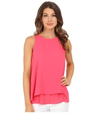 Christin Michaels Reunion High Neck Top Azalea Women's Clothing Pink
