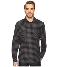 James Campbell Long Sleeve Woven Bueno Check Black Men's Long Sleeve Button Up