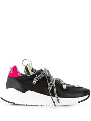 Grey Mer Contrasting Lace Up Sneakers Black