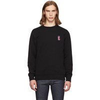 Maison Kitsune Black Acide Fox Patch Sweatshirt
