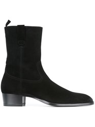 Saint Laurent Western Ankle Boots Black