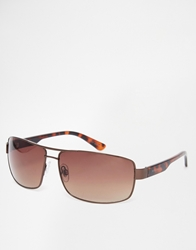 Peter Werth Aviator Sunglasses Brown