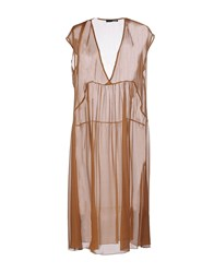 .Tessa Dresses Knee Length Dresses Women Brown