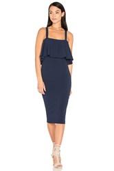 Milly Flounce Dress Navy