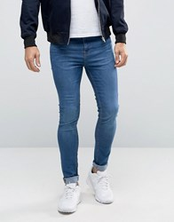 New Look Super Skinny Jeans In Mid Wash Blue Bright Blue