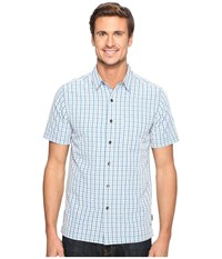 Royal Robbins Mojave Pucker Plaid Short Sleeve Merlin Blue Men's Short Sleeve Button Up