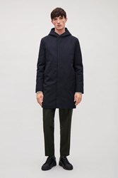 Cos Padded Cotton Parka Navy
