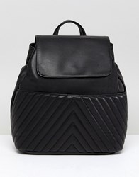 Asos Quilted Mini Backpack Black