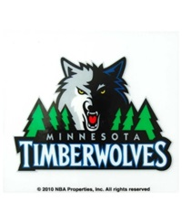 Rico Industries Minnesota Timberwolves Static Cling Decal Team Color