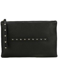 Red Valentino Star Studded Clutch Black