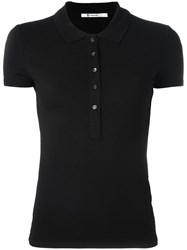 Alexander Wang T By Short Sleeve Polo Shirt Black