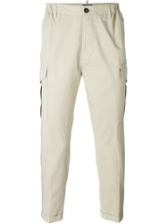 Dsquared2 Cargo Cropped Trousers Nude And Neutrals