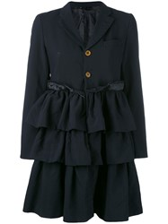 Comme Des Garcons Ruffled Skirt Coat Women Polyester S Blue