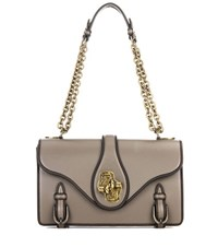 Bottega Veneta City Knot Leather Shoulder Bag Grey