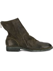 Guidi Zip Up Fitted Boots Green