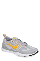 Nike Men's 'Free Train Versatility' Training Shoe Grey Citrus White Black