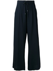 Roberto Collina Wide Leg Track Pants Blue