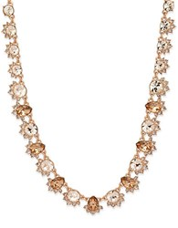 Givenchy Crystal Cluster Collar Necklace Rose Gold