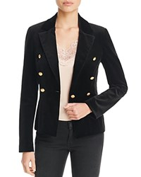 Aqua X Maddie And Tae Velvet Gold Button Blazer 100 Bloomingdale's Exclusive Black