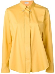 Brunello Cucinelli Button Down Collar Shirt Yellow