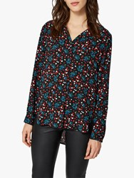 Selected Femme Dynella Print Long Sleeve Shirt True Red