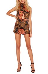 Missguided Women's Brocade High Rise Shorts