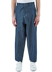 Marius Petrus Wide Leg Selvedge Denim Pants Blue