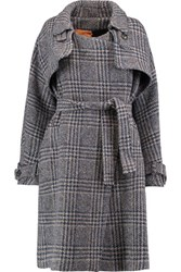 Stella Jean Woven Trench Coat Gray