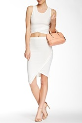 Blvd Wrapped Skirt White