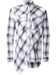 Miharayasuhiro Patchwork Plaid Shirt Brown