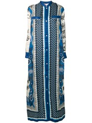 F.R.S For Restless Sleepers Patterned Maxi Dress Blue