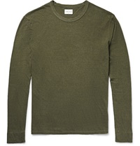 Simon Miller Tulare Slub Cotton And Silk Blend Jersey T Shirt Green