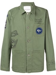 Deus Ex Machina Logo Patch Shirt Jacket Green