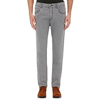 Isaia Men's Slim Fit Jeans Light Grey
