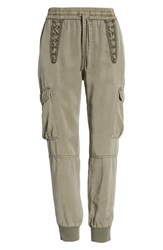 Pam And Gela Cargo Jogger Pants Freedom Green