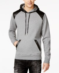 Guess Roy Faux Leather Colorblocked Hoodie