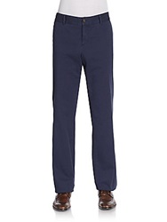 Faconnable Dot Print Twill Trousers Navy Blue