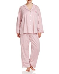 Ralph Lauren Plus Bingham Knits Stripe Pajama Set