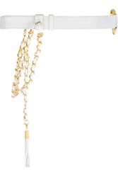 Emilio Pucci Chain Embellished Alligator Belt