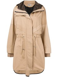 Sportmax Hooded Parka Nude And Neutrals