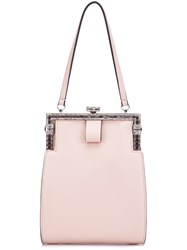 N 21 No21 Embellished Clasp Clutch Pink Purple