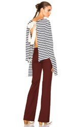 Jacquemus Cut Sleeve Top In Stripes