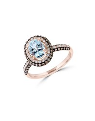 Effy Final Call Diamond Aquamarine And 14K Rose Ring Rose Gold