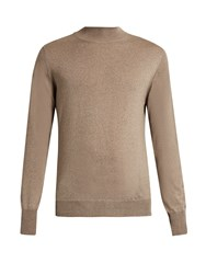 Editions M.R High Neck Wool Sweater Beige