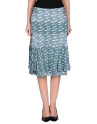 Ajay Knee Length Skirts Blue